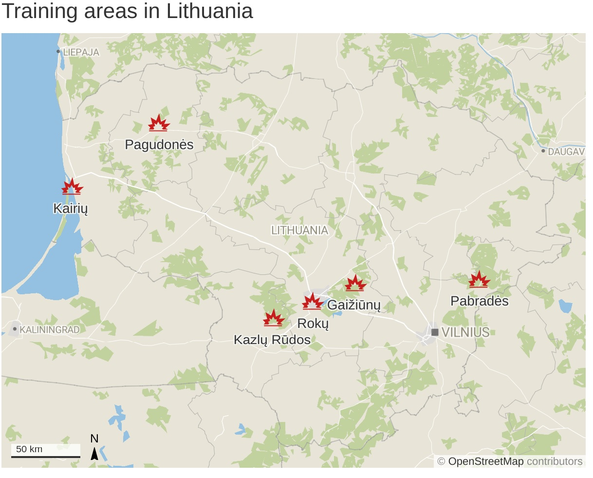 Lithuania to endorse building foreign military base map balticword.jpg