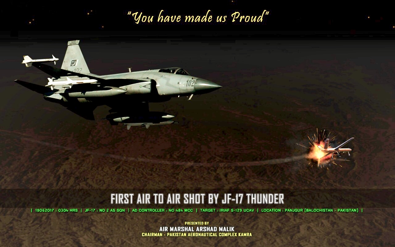 Pakistan Air Force JF-17 Victory Kill Mark against an Iranian UAV Shahed 129 3.png