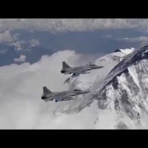 JF17 Thunder Aircraft Flying over Mount Nanga-Parbat