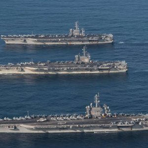 3 Aircraft Carriers in the Pacific