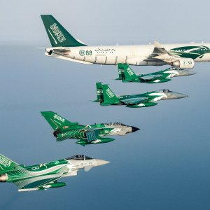 RSAF aircrafts with special livery to celebrate their National Day