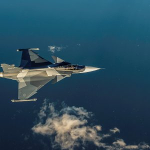 Another Gripen E in the air.
